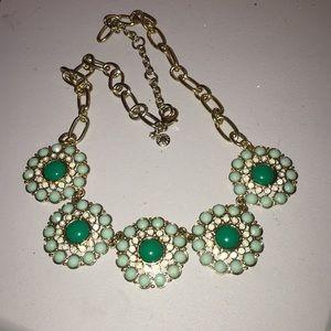 Pretty green tone statement necklace
